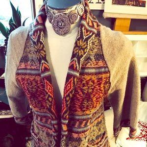 Free People Sweater Coat Sz Lg 3/4 Sleeve